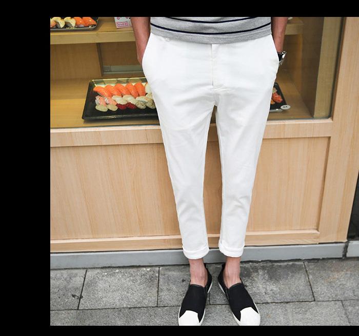 【【王子】创意口袋设计休闲九分裤男】-男装-裤子