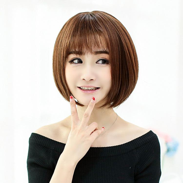 假发女短发bobo头沙宣头薄卷齐刘海女生甜美发型假发图片图片