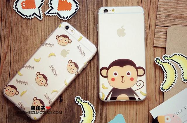 可爱猴子香蕉苹果手机壳