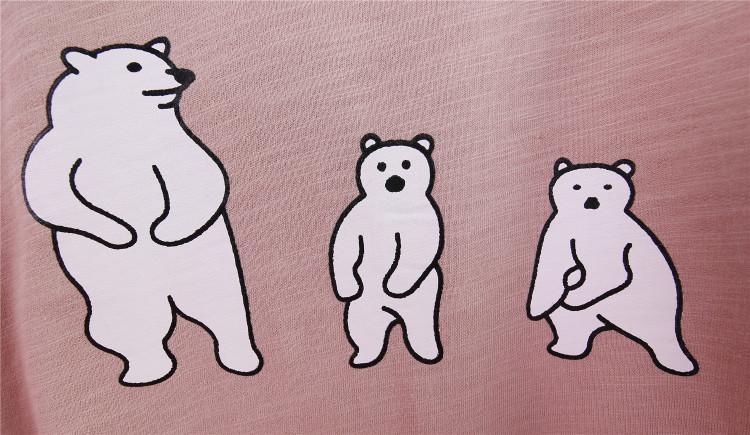 【首尔一社】三只小熊印花韩国短袖女式t恤