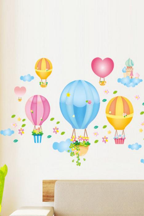 【乐悠78热气球墙贴】-null-贴饰