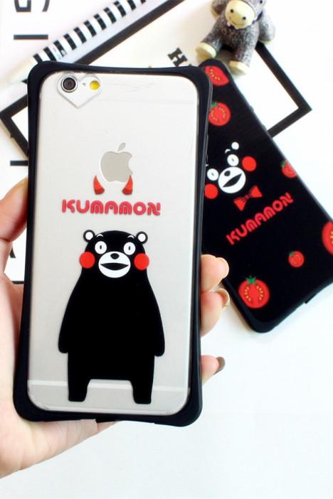 iphone6s/6p可爱日本熊本熊小蛮腰手机壳