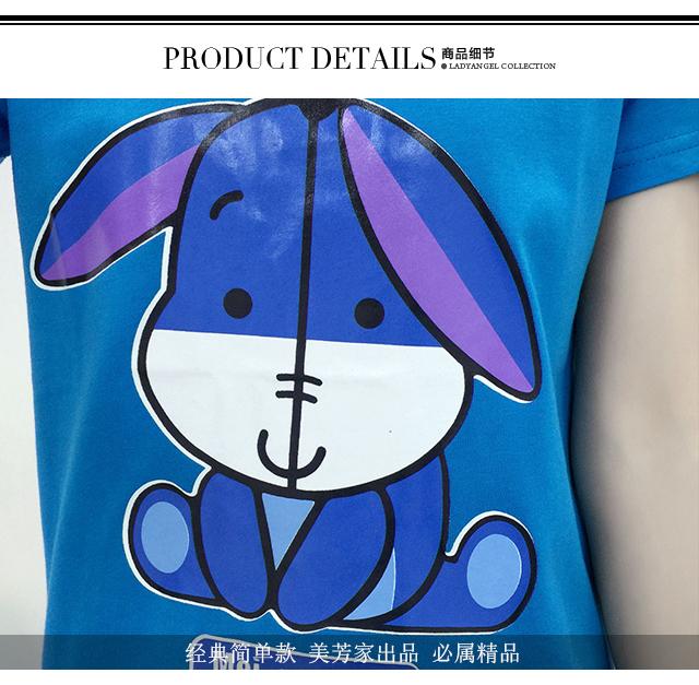 可爱小驴动物卡通打底短袖t恤