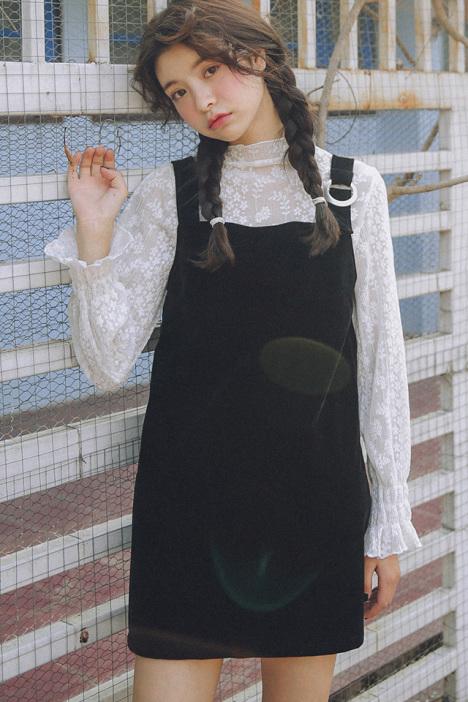 【黑色百搭背带裙】-衣服-裙子
