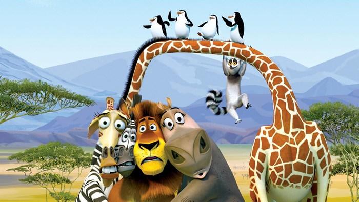 正版马达加斯加狮子长颈鹿斑马河马企鹅狐猴毛绒玩具公仔生日礼物