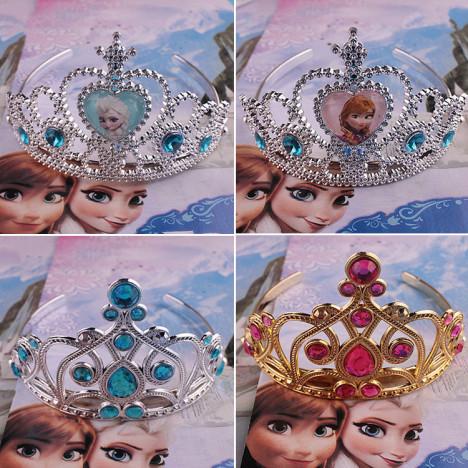 儿童皇冠爱心装扮头饰冰雪奇缘公主王冠发箍小魔仙生日礼物饰品