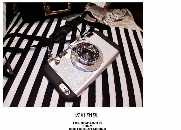 【创意相机造型 iphone手机壳】-衣服-手机配件