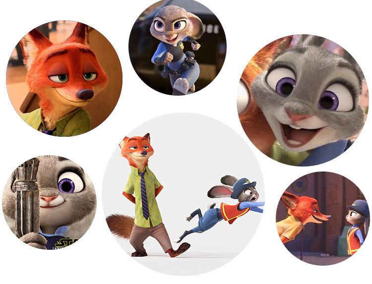【疯狂动物城毛绒玩具兔子朱迪公仔玩偶狐狸尼克nick