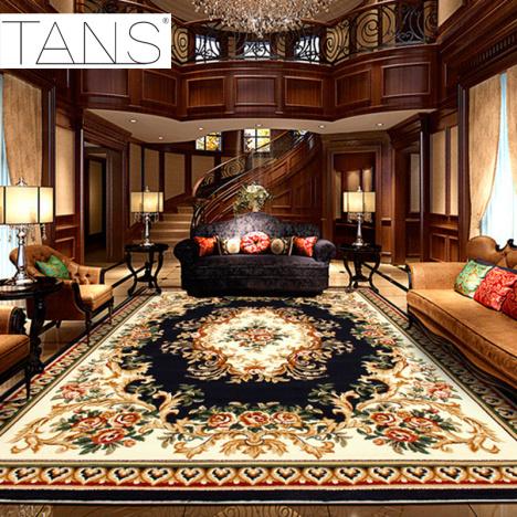 【tans欧式客厅地毯 宫廷茶几沙发地毯卧室地毯