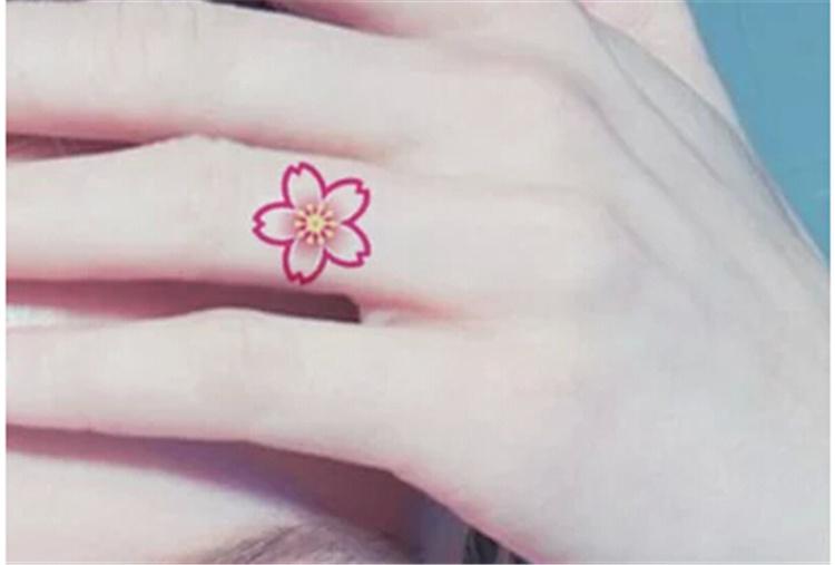 的樱花纹身图案图片