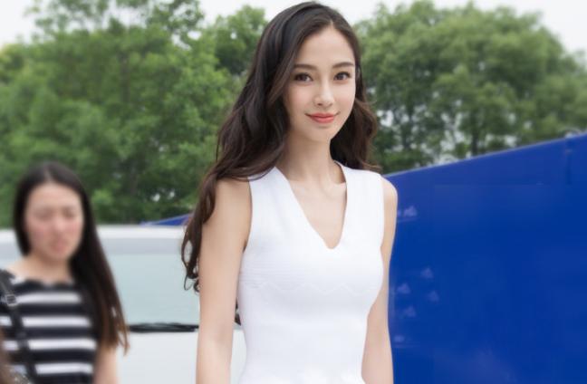 【杨颖明星同款性感v领修身连衣裙】-衣服-连衣裙