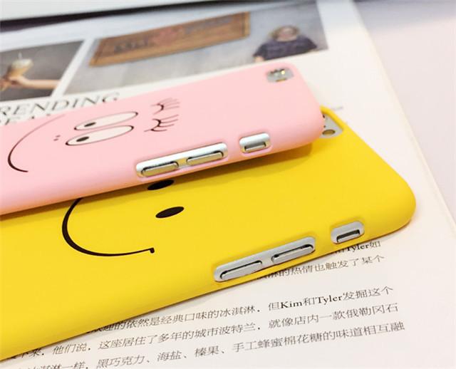 【韩国粉色笑脸iphone6s手机壳卡通磨砂】-配饰-手