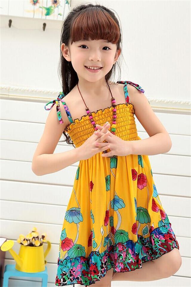 2-3岁4小孩5沙滩吊带裙6小女孩裙子儿童女童连衣裙7夏装8