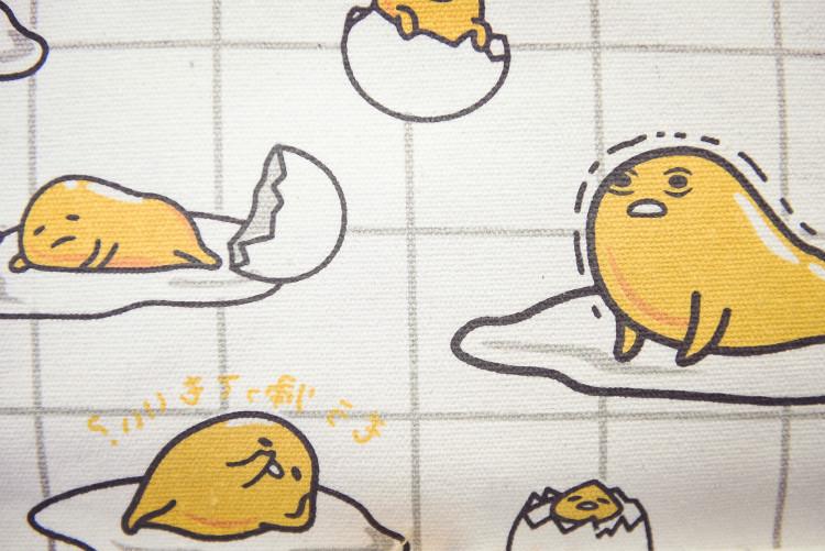 日系原宿风煎鸡蛋双肩包卡通可爱休闲背包帆布学生书包
