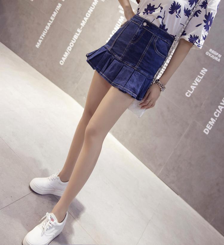 【夏季牛仔百褶半身鱼尾裙】-衣服-半身裙