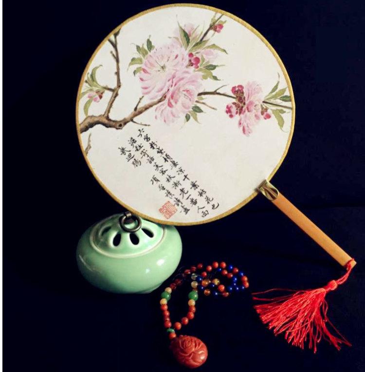 【中国风仿古手工团扇】-家居-百货