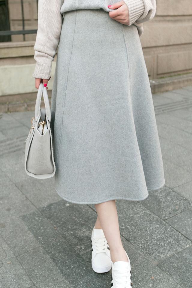 羊毛半身裙】-衣服-半身