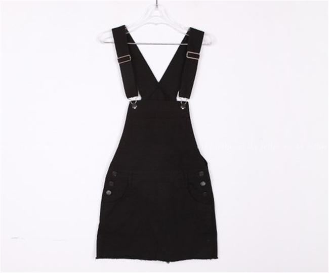 【黑色背带裙 】-衣服-半身裙