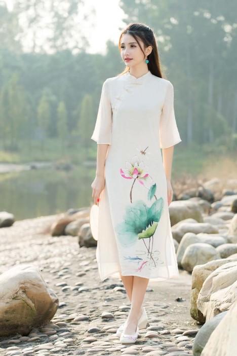 2016春夏装新款中国风手绘改良旗袍盘扣中式棉麻连衣裙
