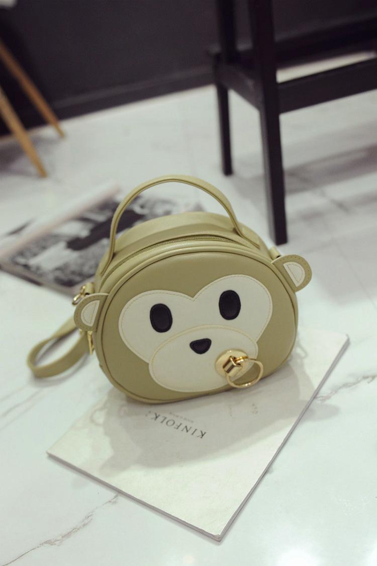 【萌萌哒可爱吸奶小猴子单肩斜挎包】-包包-女包