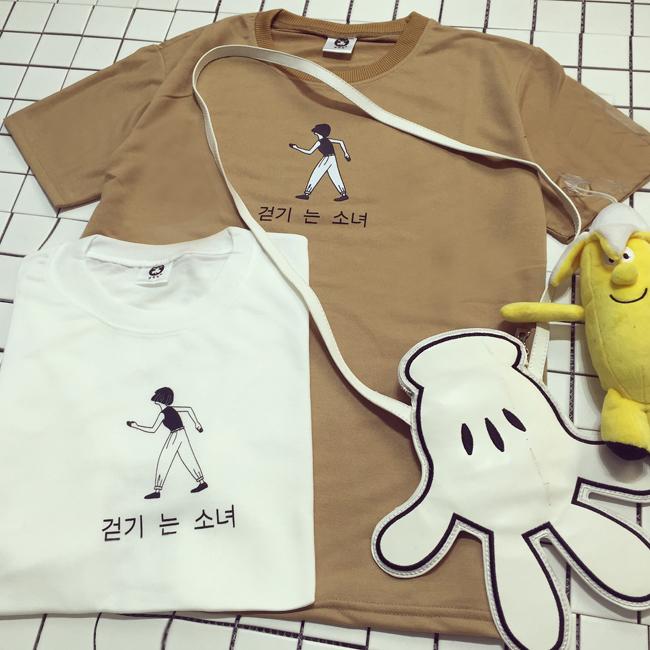 【【至简至美】手绘少年颜文字印花t恤】-衣服-服饰