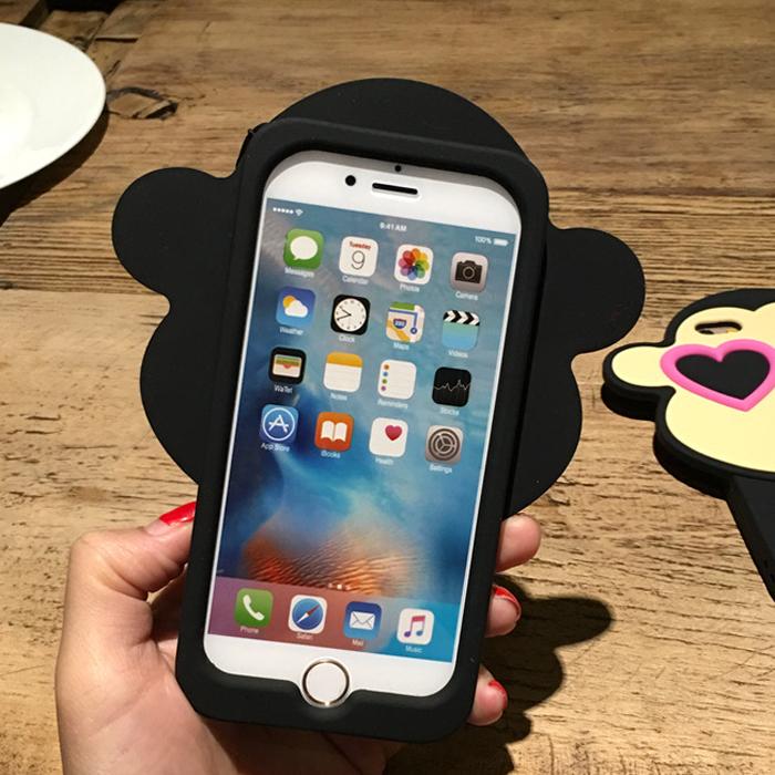 韩国网红情侣爱心猴iphone6s手机壳