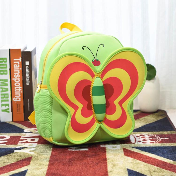 儿童书包幼儿园男女小蝴蝶可爱卡通图案双肩包