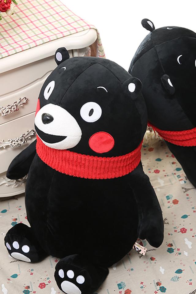 【乐邦儿童新年礼物熊本熊毛绒玩具女生娃娃日本黑熊图片 (640x960)