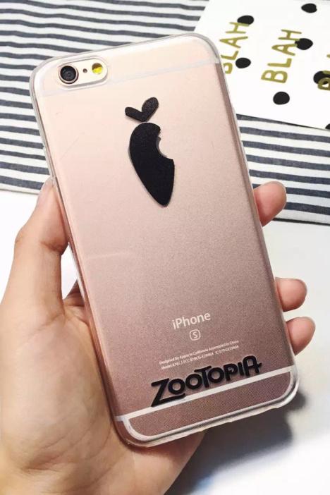 【疯狂动物城手机壳iphone6s朱迪同款苹果6p萝卜标志
