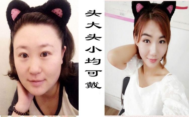 小s同款猫耳朵发箍短发发饰刘海发卡韩国时尚可爱洗脸发带宽头箍