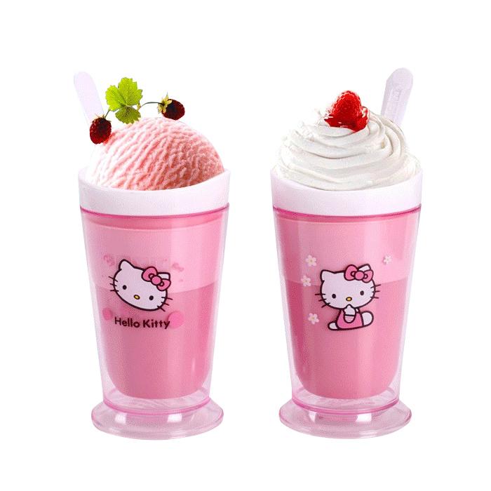 kt冰沙杯冰淇淋 可爱雪糕机奶昔杯奶昔器柠檬杯