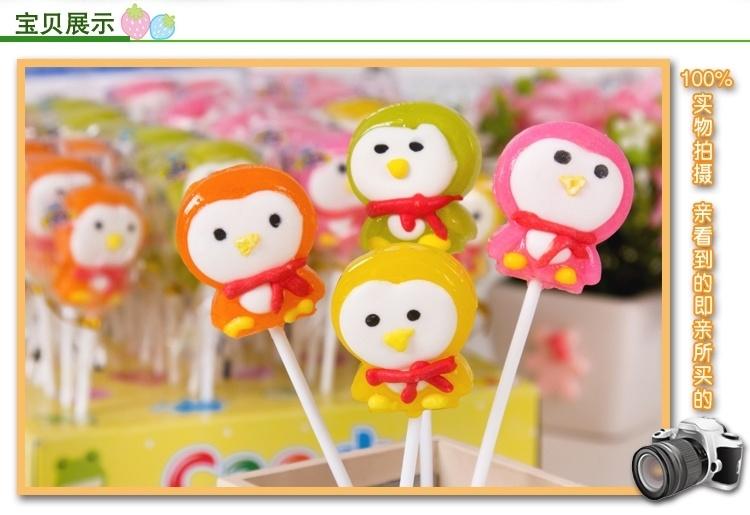 【泉旺糖果儿童节新款棒棒糖可爱卡通造型硬糖经典20